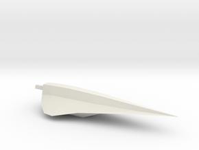 1/1000 Serpens Destroyer Main Hull (Kit Part #1) in White Natural Versatile Plastic
