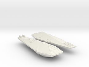 3125 Scale Hydran Destroyers (2, Mixed) CVN in White Natural Versatile Plastic