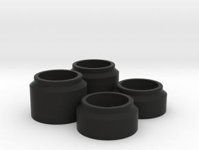 Short Course Big Bore Spring Spacers in Black Natural Versatile Plastic