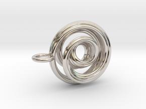 Single Strand Spiral Mobius Pendant in Platinum