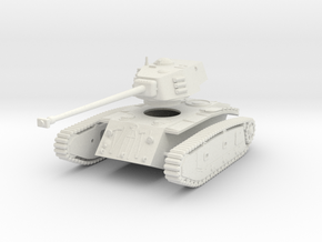 1/43 ARL 44 heavy tank in White Natural Versatile Plastic