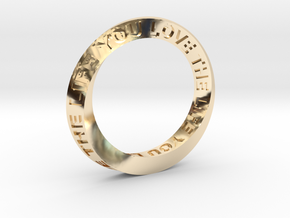 Live The Life You Love - Mobius Ring in 14K Gold