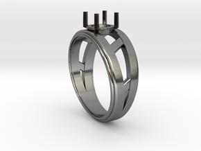 Women's - Gem (Ready) Ring #3 in Polished Silver