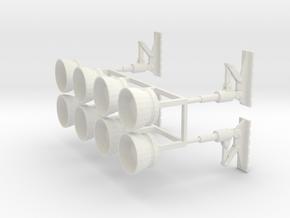 """VTOL Thrusters/Passenger Pod Pads for 12"""" Eagle Ki in White Natural Versatile Plastic"""