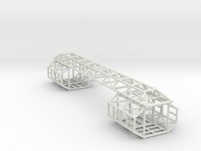 """Eagle Framework ver. 2 for 12"""" kit (Passenger Pod) in White Natural Versatile Plastic"""