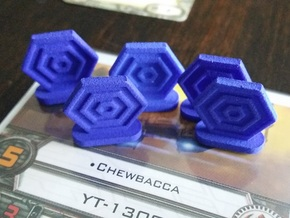 Shield Tokens in Blue Processed Versatile Plastic