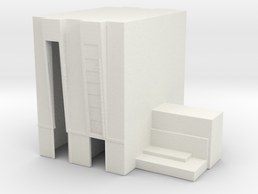 1/2500 Scale Apollo Vehicle Assembly Building in White Natural Versatile Plastic