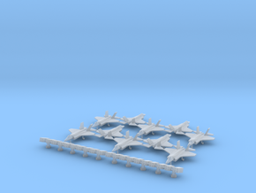 F-35 (10x) (1:300) & Sea Sparrow Launcher (1:300) in Smooth Fine Detail Plastic