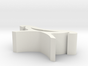 Luban stool in White Natural Versatile Plastic