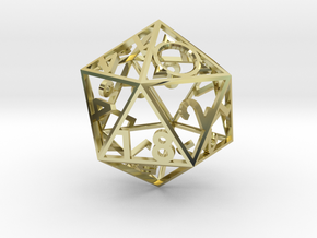 Air - d20 in 18k Gold Plated Brass