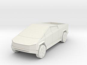 CyberTruck in 1:48 in White Natural Versatile Plastic