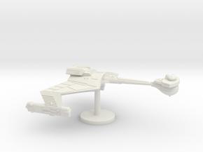2500 Scale Klingon D7K Refitted Battlecruiser WEM in White Natural Versatile Plastic