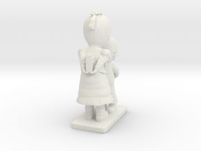 Decorative figurine in White Natural Versatile Plastic