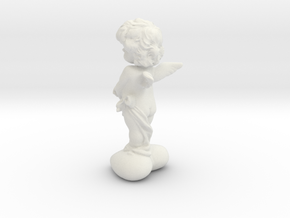 Angel of Cherub in White Natural Versatile Plastic