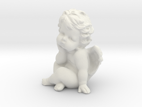 Angel  in White Natural Versatile Plastic