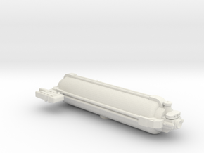 Omni Scale General Small Armed Freighter SRZ in White Natural Versatile Plastic