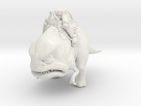 Two-Legged Dino Mount w/ Classic Buckethead Legs ( in White Natural Versatile Plastic