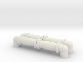 Industrial Pipeline (x2) 1/160 in White Natural Versatile Plastic