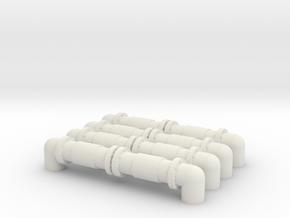Industrial Pipeline (x4) 1/220 in White Natural Versatile Plastic
