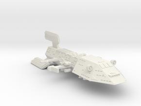 3125 Scale Kzinti Space Control Ship (SCS) SRZ in White Natural Versatile Plastic