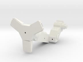 1/72 Augurs left leg (part #2 for kit) in White Natural Versatile Plastic