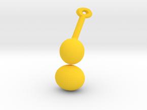 Gourd Charm in Yellow Processed Versatile Plastic: Medium