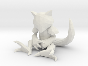LowPoly Style Pokemon figure - Abra in White Natural Versatile Plastic