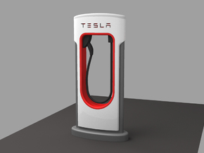 TESLA FAST CHARGER 1/64 in Smoothest Fine Detail Plastic