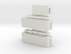 2 Tandemwohnwagen 8 m - 1:160 (n scale) in White Natural Versatile Plastic