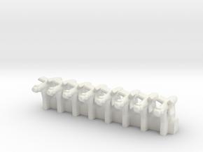 (1:285)(x8) Ruhrstahl X-4 in White Natural Versatile Plastic