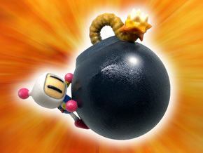 Bomberman Figure / Ornament in Glossy Full Color Sandstone