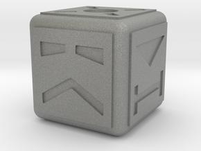 Cubebot Gaming Die in Gray PA12