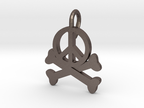 Homicidal Pacifist - Small in Polished Bronzed Silver Steel