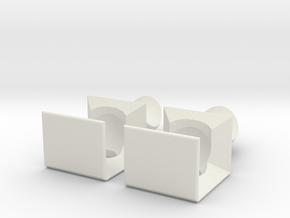 Ball Lock Puzzle in White Natural Versatile Plastic