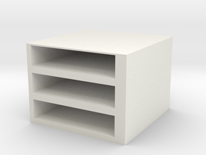 Storage Box in White Natural Versatile Plastic