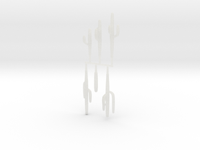 Z Scale Saguaro Collection 02 in Smooth Fine Detail Plastic