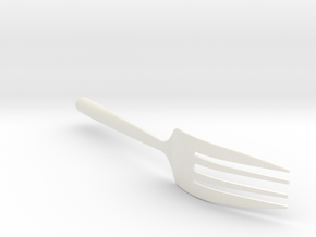 Section mixed into fork in White Processed Versatile Plastic
