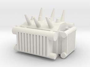 Electrical Transformer 1/48 in White Natural Versatile Plastic