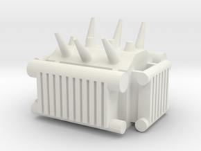Electrical Transformer 1/43 in White Natural Versatile Plastic