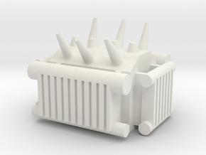 Electrical Transformer 1/24 in White Natural Versatile Plastic