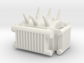 Electrical Transformer 1/160 in White Natural Versatile Plastic