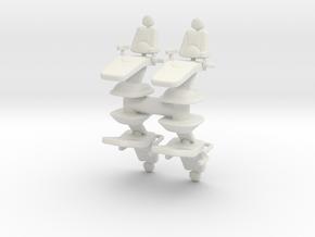 Dentist Chair (x4) 1/72 in White Natural Versatile Plastic