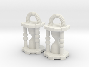 Hourglass Earrings in White Strong & Flexible