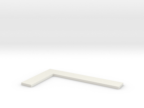 Square Ruler in White Natural Versatile Plastic: Medium