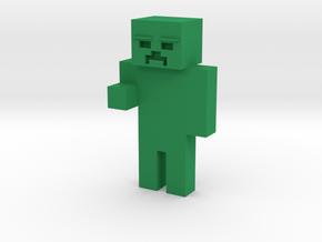Minecraft[Zombie] in Green Processed Versatile Plastic