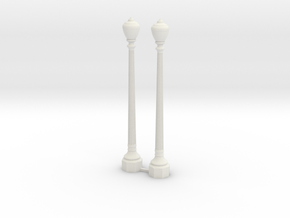Period Street Lamps  in White Natural Versatile Plastic