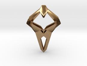 HEART TO HEART Sharpy, Pendant. Sharp Elegance in Natural Brass