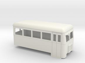 009 short single-ended railbus  in White Natural Versatile Plastic