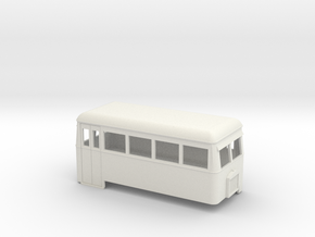 009 short double-ended railbus  in White Natural Versatile Plastic