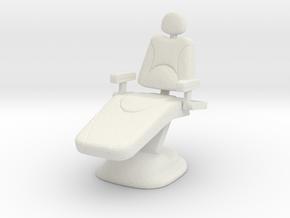Dentist Chair 1/24 in White Natural Versatile Plastic